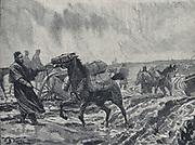 Crimean War 1853-1856: Miserable winter conditions at Balaclava.