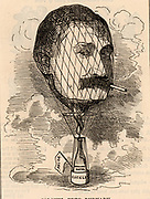 Frederick Gustavus Burnaby (1842-1885) English traveller and soldier born at Bedford. In the winter of 1875-1876 he rode through Russian Asia to the Khanate of Kiva.  In 1882 he crossed the English Channel in a hot air balloon. Killed at the Battle of Abu Klea when part of the relief force hoping to save Gordon at Khartoum.   Cartoon by Edward Linley Sambourne in the Punch's Fancy Portraits series from 'Punch' (London, 1 April 1882).