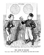 """The Apple of Discord. Young Adolf. """"Jolly good, Benny. But remember the next bite is mine."""""""