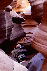 OCT 6, 2016: Light bounces off the sand stone walls of Antelop Canyon creating contrasting colors in Page, Arizona, Richey Miller/CSM(Credit Image: © Richey Miller/Cal Sport Media)