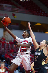 NORMAL, IL - October 30: Juliunn Redmond defended by Kenzie Guese during a college women's basketball game between the ISU Redbirds and the Lions on October 30 2019 at Redbird Arena in Normal, IL. (Photo by Alan Look)