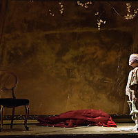 Scottish Opera production Madama Butterfly by GIACOMO PUCCINI. The tale of the young Cio-Cio San, the Japanese Madama Butterfly of the opera?s title, and her abandonment by her dashing American husband..Picture Shows - Madama Butterfly son Sorrow played by Jamie Fadianr..© Picture Drew Farrell / Lebrecht..Payment at All Times...CAST :   .Cio-Cio San - Rebecca Nash.Suzuki  -  Jennifer Johnston.B.F. Pinkerton -  John Hudson.Sharpless   -  Garry Magee.Goro  -   Harry Nicoll.The Bonze-    Richard Wiegold.Yamadori -      Gareth Rhys Davies.Kate Pinkerton -    Catriona Barr..CONDUCTORS.Francesco Corti (ex. 25, 28 April 28, 30 June).Derek Clark (25, 28 April 28, 30 June).ORIGINAL DIRECTOR -    David McVicar.DIRECTOR & MOVEMENT DIRECTOR  -   Leah Hausman.DESIGNER  -      Yannis Thavoris.ORIGINAL LIGHTING  -   Paule Constable..Opens at Theatre Royal Glasgow 28, 31 March 25, 28 April 17, 23, 25, 30 May .Regent Theatre, Stoke-on-Trent 5, 7, 9 June .Edinburgh Festival Theatre 13, 15, 19, 21, 23 June.His Majesty?s Theatre, Aberdeen 28, 30 June.