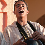 Moroccan man singing