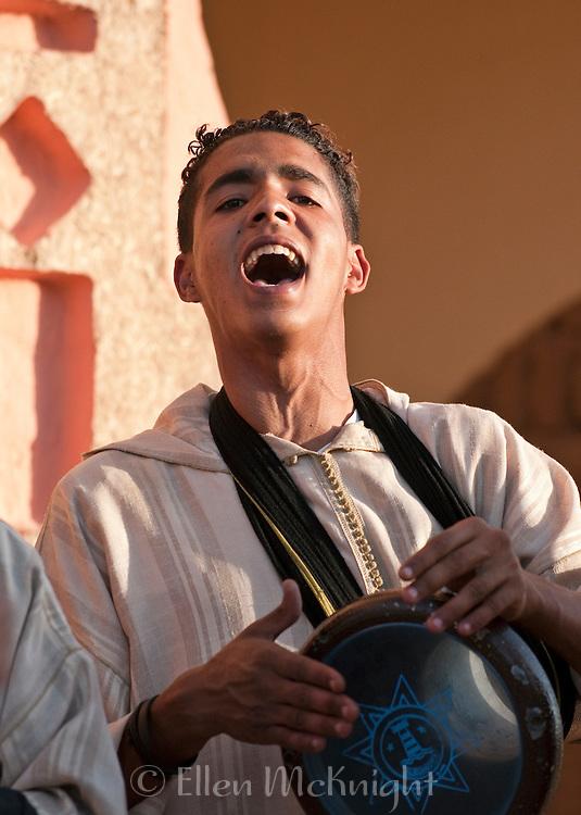 Moroccan man singing
