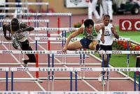 Friidrett<br /> IAAF Super Grand Prix<br /> Lausanne<br /> 11.07.2006<br /> Foto: EQ Images/Digitalsport<br /> NORWAY ONLY<br /> <br /> Ladji Doucoure (FRA) und Liu Xiang (CHN)