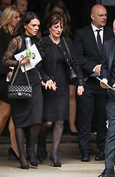 Jade Wilkins and Jackie Wilkins (L-R) depart from Ray Wilkins' memorial service at St Luke's church in Chelsea.<br /> <br /> 1 May 2018.<br /> <br /> Please byline: Vantagenews.com