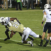 ORLANDO, FL - OCTOBER 09:  William Stanback #28 of the UCF Knights scores a touchdown at Bright House Networks Stadium on October 9, 2014 in Orlando, Florida. (Photo by Alex Menendez/Getty Images) *** Local Caption *** William Stanback
