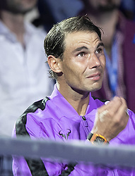 September 8, 2019, Flushing Meadows, New York, United States of America: Rafael Nadal gets emotional after a tribute to him is shown after winning the Men Singles Finals match against Daniil Medvedev on Day 14 of the 2019 US Open at USTA Billie Jean King National Tennis Center on Sunday September 8, 2019 in the Flushing neighborhood of the Queens borough of New York City. Nadal defeats Medvedev, 7-5, 6-3, 5-7, 4-6, 6-4. JAVIER ROJAS/PI (Credit Image: © Prensa Internacional via ZUMA Wire)