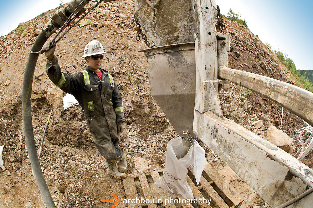 Mining in the Yukon Territory, Canada..