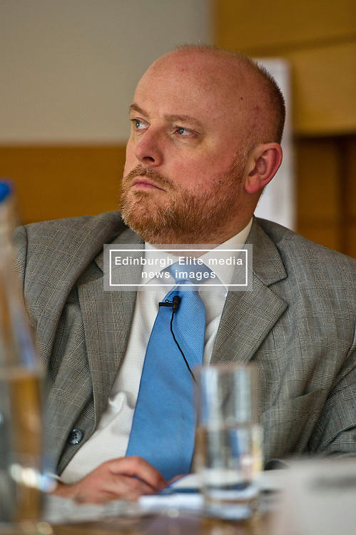 Pictured: Alastair Ross FCIPR (assistant Director, Head of Public Policy Association of British Insurers)<br /> <br /> Conference to examine impact of Brexit on Scottish businesses and public services. The event, organised by the Fraser of Allander Institute and Strathclyde Business School, heard from a numbers of speakers including Mark Taylor (Audit Scotland), John Edward (former head of Office in Scotland, the European Parliament, Professor Russel Griggs OBE, (Chair Scottish Government Independent Advisory Regulatory Review Griup), Jenny Stewart (head of Infrastructure and Government KPMG), Lynda Towers (Director of public law Morton Fraser), Katerina Lisenkova (Head of economic modelling, Fraser of Allander Institute), Ian Wooton (Professor of Economics and Vice Dean (research) Strathclyde Business School), Alastair Ross FCIPR (assistant Director, Head of Public Policy Association of British Insurers) and  Scottish Brexit Minister Mike Russell<br /> <br /> Ger Harley | EEm 2 March 2017