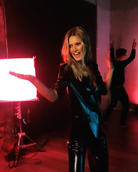 "Toni Garrn releases a photo on Instagram with the following caption: ""Wait till you see my background dancers in full action \ud83e\udd38\ud83c\udffc\u200d\u2640\ufe0f\ud83d\ude0e Hint: It\u2019s not exactly a music video that we\u2019re shooting \ud83d\ude02"". Photo Credit: Instagram *** No USA Distribution *** For Editorial Use Only *** Not to be Published in Books or Photo Books ***  Please note: Fees charged by the agency are for the agency's services only, and do not, nor are they intended to, convey to the user any ownership of Copyright or License in the material. The agency does not claim any ownership including but not limited to Copyright or License in the attached material. By publishing this material you expressly agree to indemnify and to hold the agency and its directors, shareholders and employees harmless from any loss, claims, damages, demands, expenses (including legal fees), or any causes of action or allegation against the agency arising out of or connected in any way with publication of the material."