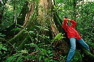 Ecotourist in Bwindi Forest, Uganda