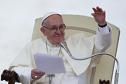 April 18, 2018  - Vatican City State (Holy See)  POPE FRANCIS during his Wednesday general audience in St. Peter's Square at the Vatican  (Credit Image: © Evandro Inetti via ZUMA Wire)