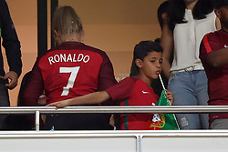 October 10, 2017 - Lisbon, Portugal - Portugal's Cristiano Ronaldo son, Cristianinho,, during the 2018 FIFA World Cup qualifying football match between Portugal and Switzerland at the Luz stadium in Lisbon, Portugal on October 10, 2017. Photo: Pedro Fiuza  (Credit Image: © Pedro Fiuza/NurPhoto via ZUMA Press)