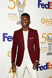 March 9, 2019 - Los Angeles, CA, USA - LOS ANGELES - MAR 9:  Miles Fitch at the 50th NAACP Image Awards Nominees Luncheon at the Loews Hollywood Hotel on March 9, 2019 in Los Angeles, CA (Credit Image: © Kay Blake/ZUMA Wire)