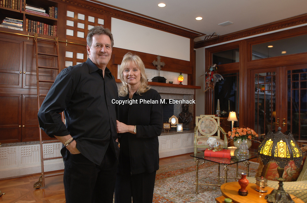Tupperware CEO Rick Goings and his wife, Susan, stand in their favorite room in their home in Windermere, Florida.