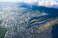 Aerial photograph of Honolulu, Oahu, Hawaii