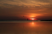 Sunrise over the Chesapeake Bay seen from Smith Island, Maryland