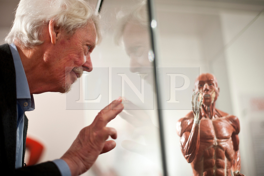 © Licensed to London News Pictures. 12/03/2012. London, UK. Richard Neave examines the model of sprinter Richard Whitehead, that she made in collaboration with Denise Smith. The model is anatomically correct and is designed to show the difference in physiology of an athlete that uses prosthetic limbs. Preview of the Royal College of Surgeons' 'Anatomy of an Athlete' exhibition. The exhibition opens on March 13 and looks at the latest innovations in orthopaedic surgery, prosthetics and training in creating and maintaining elite athletes. Photo credit : Spike Johnson/LNP