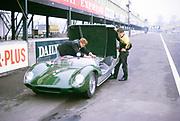 Lotus-Climax racing car John Coundley Racing Partnership thought to be Oulton Park race circuit April 1963