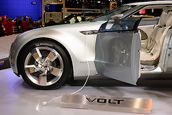 08 February 2007: 2007 Chevrolet Volt concept alternative fuel vehicle. The Chicago Auto Show is a charity event of the Chicago Automobile Trade Association (CATA) and is held annually at McCormick Place in Chicago Illinois.