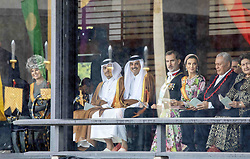 October 22, 2019, JAPAN: 22-10-2019 Inhuldiging Enthronement ceremony of Emperor Naruhito of Japan in Tokyo..Queen Maxima and King Felipe and Letizia at the Imperial Palace to attend the proclamation ceremony of Japans Emperor in Tokyo, Japan. (Credit Image: © face to face via ZUMA Press)