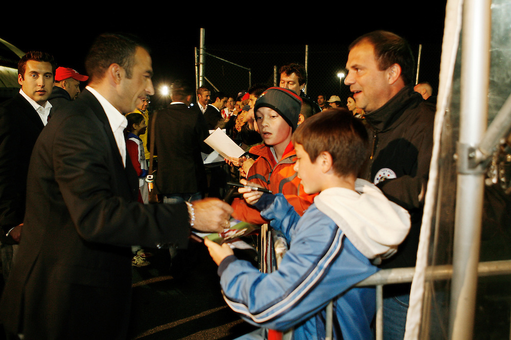 Saturday October 14th 2006. .Giants Stadium, East Rutherford, New Jersey. United States..Red Bulls French soccer player Youri Djorkaeff signs autographs after a game against Kansas City at the Giants Stadium. This game could have been be his last one as a professional player if the Red Bulls didn't win 3-2.