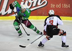 Brendan Yarema at 39th Round of EBEL League ice hockey match between HDD Tilia Olimpija and Acroni Jesenice, on December 30, 2008, in Arena Tivoli, Ljubljana, Slovenia. Tilia Olimpija won 4:3. (Photo by Vid Ponikvar / SportIda).