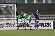 Adam Idah of Republic of Ireland (9) scores  during the UEFA European Under 17 Championship 2018 match between Bosnia and Republic of Ireland at Stadion Bilino Polje, Zenica, Bosnia and Herzegovina on 11 May 2018. Picture by Mick Haynes.