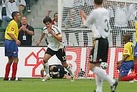Fotball<br /> Landskamp<br /> Tyskland v Colombia<br /> 02.06.2006<br /> Foto: Witters/Digitalsport<br /> NORWAY ONLY<br /> <br /> Jubel 1:0 Michael Ballack<br /> Laenderspiel Deutschland - Kolumbien