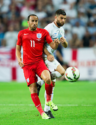 Andros Townsend of England vs Bojan Jokic of Slovenia during the EURO 2016 Qualifier Group E match between Slovenia and England at SRC Stozice on June 14, 2015 in Ljubljana, Slovenia. Photo by Vid Ponikvar / Sportida