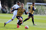 Jack Wilshere of Arsenal in action for the Arsenal u21 team. Barclays U21Premier league match, Swansea city U21's v Arsenal U21's at the Landore training ground in Swansea, South Wales on Thursday 14th April 2016.<br /> pic by Andrew Orchard, Andrew Orchard sports photography.