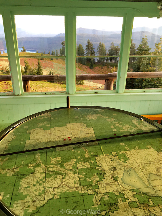 """Mt. Harkness Fire Lookout, where Edward Abbey finished """"Desert Solitaire"""", just as it was in 1966,Lassen Volcanic National Park, California"""