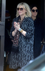 Cate Blanchett makes sure to stay warm as she arrives to the set in chilly NYC to share the silver screen with Sandra Bullock and Helena Bonham Carter. New York City, NY, USA, October 26, 2016. Photo by Dennis Van Tine/ABACAPRESS.COM