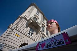 I love Giro d'Italia at finish line of 2nd stage of 92nd Giro d'Italia in Trieste, on May 10, 2009, in Trieste, Italia.  (Photo by Vid Ponikvar / Sportida)