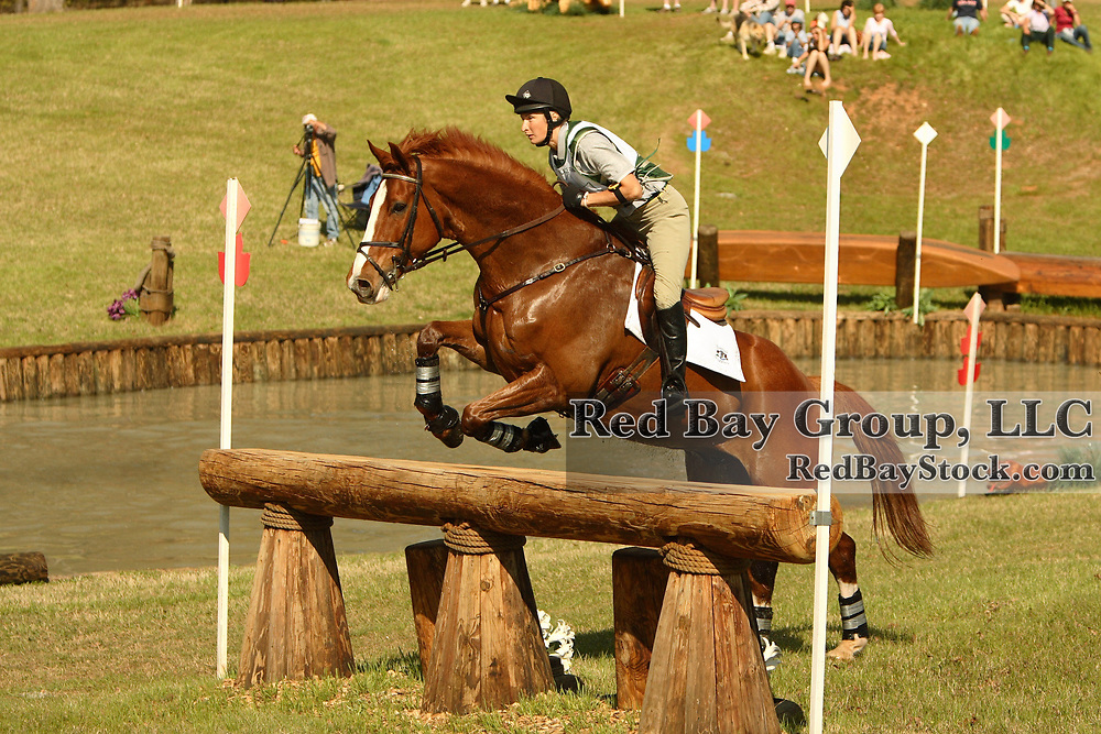 Adrienne Iorio (USA) and Dromore Boy at Poplar Place Spring Horse Trials held in Hamilton, Georgia