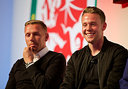 NEWPORT, WALES - Saturday, May 21, 2016: Chris Gunter during the Football Association of Wales' National Coaches Conference 2016 at the Celtic Manor Resort. (Pic by David Rawcliffe/Propaganda)