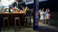 The Coney Island boardwalk, Brooklyn, NY