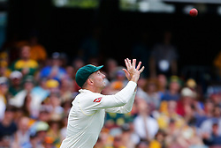 Australia's Shaun Marsh takes the catch to dismiss England's Dawid Malan during day two of the Ashes Test match at The Gabba, Brisbane.