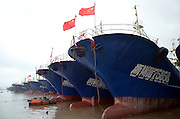 "NINGBO, CHINA - SEPTEMBER 21: (CHINA OUT) <br /> <br /> Thousands of fishing-boat go back to port as typhoon ""Phoenix"" draws near on September 21, 2014 in Ninbo, Zhejiang province of China. Thousands of fishing-boat took shelter from the typhoon ""Phoenix"" at port on Sunday.<br /> ©Exclusivepix"