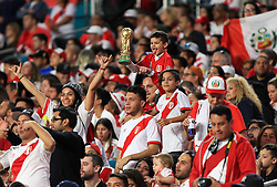 March 23, 2018 - Miami Gardens, Florida, USA - Peruvian fans during a FIFA World Cup 2018 preparation match between the Peru National Soccer Team and the Croatia National Soccer Team at the Hard Rock Stadium in Miami Gardens, Florida. (Credit Image: © Mario Houben via ZUMA Wire)