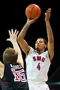 DALLAS, TX - FEBRUARY 6: Keith Frazier #4 of the SMU Mustangs shoots the ball against the Temple Owls on February 6, 2014 at Moody Coliseum in Dallas, Texas.  (Photo by Cooper Neill) *** Local Caption *** Keith Frazier