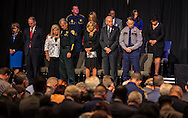 Vice President Joe Biden and his wife at a memorial for law enforment officers slayed in Baton Rouge by a lone gunman following the killing of Alton Sterling.