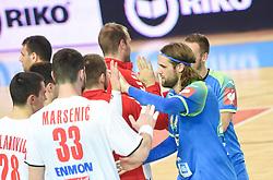 Dean Bombac of Slovenia after friendly handball match between Slovenia and Srbija, on October 27th, 2019 in Športna dvorana Lukna, Maribor, Slovenia. Photo by Milos Vujinovic / Sportida