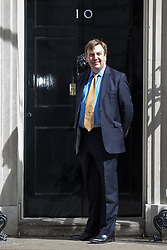 © Licensed to London News Pictures . 11/05/2015 . London , UK . JOHN WHITTINGDALE arrives at 10 Downing Street this morning (11th May 2015) . Photo credit : Joel Goodman/LNP