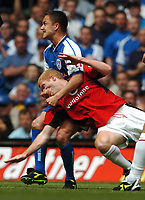 Dennis Wise Millwall gets to grips with Paul Scholes Manchester United<br />Manchester United v Millwall F/A Cup Final 22/05/04<br />Photo Robin Parker Fotosports International