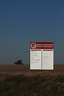 11/7/07 Smith Center, KS.Sign leading into Smith Center KS..Lists all championships won by the Smith Center High school....(Chris Machian/Prairie Pixel Group)