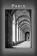 This is the cloister adjacent to the main entrance to The Louvre. This poster is  individuallly printed, to order,  on luster poster-weight paper. Price is $50 and can be paid by mail or by Paypal. Order using the Contact Form on this website.