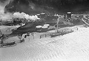 "Ackroyd 03525-24. ""Aerials, April 3, 1952, Portland Gas & Coke"" (Linnton, Gasco, Guilds Lake, Wacker Siltronic)"