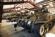 Jacques Littlefield's private tank collection.  In rural Woodside, California, USA. Silicon Valley, California, USA.